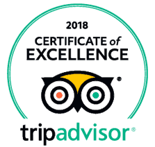 Trip advisor's 2018 Excellence certification for In Out Barcelona Tours